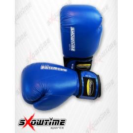 Boxhandschuhe aus Kunstleder in Blau
