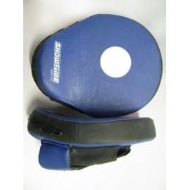 Handpratze mit Krümmung aus Kunstleder in Blau