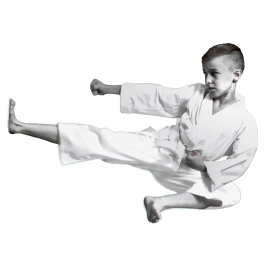 Karate Anzug 45% Polyester / 55% Cotton + weißer Gürtel