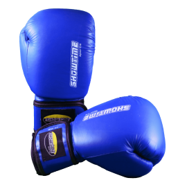 Boxhandschuhe aus echtem Leder in Blau
