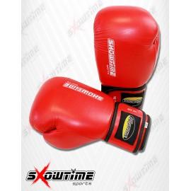 Boxhandschuhe aus Kunstleder in Rot