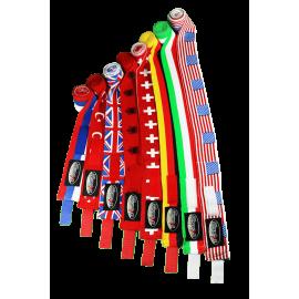 Boxbandage Elastic 3.50m mit Flaggen