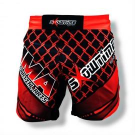 MMA Short Schwarz Rot Cage