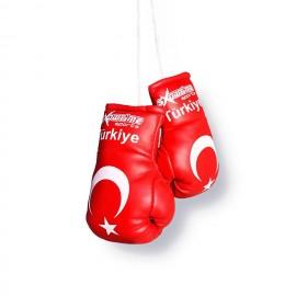 Mini Boxhandschuhe mit Türkei Flagge