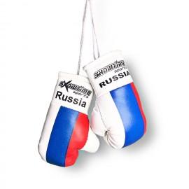 Mini Boxhandschuhe mit russischer Flagge