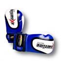 Boxhandschuhe echtem Leder MIX Color Blau/Weiß