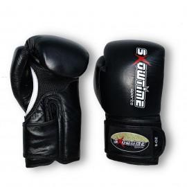 Boxhandschuhe aus echtem Leder GELTEC in Schwarz/Rot